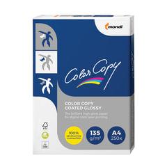 Бумага COLOR COPY GLOSSY, мелованная, глянцевая, А4, 135 г/м2, 250 л., для полноцветной лазерной печати, А++, Австрия, 139% (CIE)