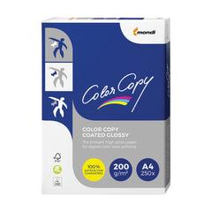 Бумага COLOR COPY GLOSSY, мелованная, глянцевая, А4, 200 г/м2, 250 л., для полноцветной лазерной печати, А++, Австрия, 139% (CIE)