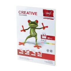 Бумага CREATIVE color (Креатив) А4, 80 г/м2, 100 л., (5 цв.х20 л.), цветная пастель