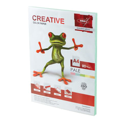 Бумага CREATIVE color (Креатив) А4, 80 г/м2, 100 л., пастель зеленая