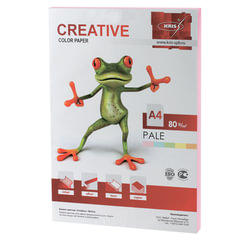 Бумага CREATIVE color (Креатив) А4, 80 г/м2, 100 л., пастель розовая