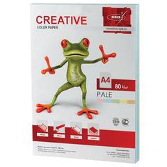 Бумага CREATIVE color (Креатив) А4, 80 г/м2, 250 л., (5 цв.х50 л.) цветная пастель