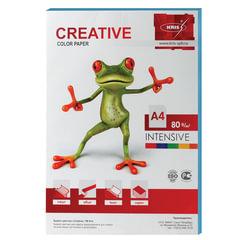 Бумага CREATIVE color (Креатив) А4, 80 г/м2, 100 л., интенсив голубая