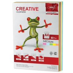 Бумага CREATIVE color (Креатив) А4, 80 г/м2, 250 л., (5 цв.х50 л.) цветная медиум