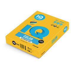 Бумага цветная IQ color, А4, 80 г/м2, 500 л., интенсив, солнечно-желтая, SY40
