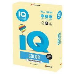 Бумага цветная IQ color, А4, 80 г/м2, 500 л., пастель, желтая, YE23