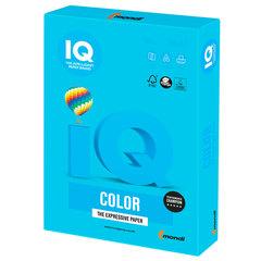 Бумага цветная IQ color, А4, 160 г/м2, 250 л., интенсив светло-синяя, AB48