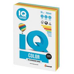 Бумага IQ color, А4, 80 г/м2, 250 л., (5 цв. x 50 л.), цветная, интенсив, RB02