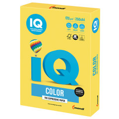 Бумага IQ color, А4, 120 г/м2, 250 л., интенсив, канареечно-желтая, CY39