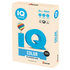 Бумага IQ color, А4, 80 г/м2, 500 л., пастель, кремовая, CR20
