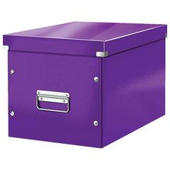"""Короб архивный LEITZ """"Click & Store"""" L, 310х320х360 мм, ламинированный картон, разборный, фиолетовый"""