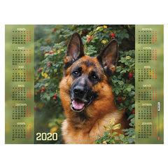 """Календарь, А2, 2020 год, 45х60 см, горизонтальный, """"Верный друг"""", HATBER, Кл2_21061"""