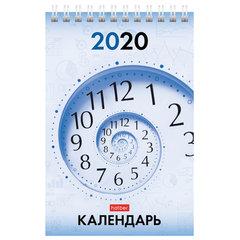 """Календарь-домик 2020 год, на гребне, 160х105 мм, вертикальный, """"Деловой стиль"""", HATBER, 12КД6гр_13400"""