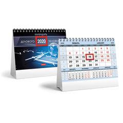 """Календарь-домик 2020 год, на гребне, 160х105 мм, горизонтальный, """"Серебро"""", HATBER, 12КД6гр_19346"""