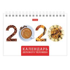"""Календарь-домик 2020 год, на гребне, 160х105 мм, горизонтальный, """"Деловой"""", HATBER, 12КД6гр_20783"""