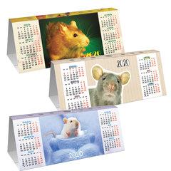 """Календарь-домик 2020 г, с фигурной высечкой, """"Знак Года"""", HATBER, КД6"""