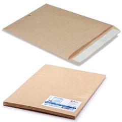 Конверт-пакеты С4 плоские (229х324 мм), до 90 листов, крафт-бумага, отрывная полоса, КОМПЛЕКТ 25 шт.