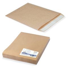 Конверт-пакеты Е4+ плоские (300х400 мм), до 300 листов, крафт-бумага, отрывная полоса, КОМПЛЕКТ 25 шт.