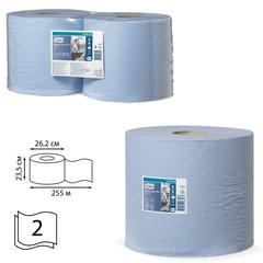 Бумага протирочная TORK (Система W1, W2), КОМПЛЕКТ 2 штуки, Advanced, 750 листов в рулоне, 34х23,5 см, 2-слойная