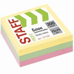 """Блок самоклеящийся (стикеры) STAFF """"PROFIT"""" 75х75мм, 300 листов, 3 цвета, 127146"""