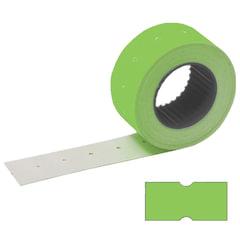 Этикет-лента 21х12 мм, прямоугольная, зеленая, комплект 100 рулонов по 800 шт., STAFF, 128450