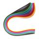 """Бумага для квиллинга """"Цветная глазурь"""", 24 цвета, 120 полос, 5 мм х 300 мм, 130 г/м2, ОСТРОВ СОКРОВИЩ, 128736"""