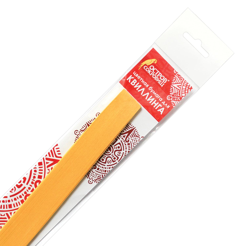 """Бумага для квиллинга """"Желтый банан"""", 125 полос, 5 мм х 300 мм, 130 г/м2, ОСТРОВ СОКРОВИЩ, 128766"""