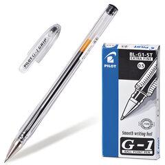 """Ручка гелевая PILOT """"G-1"""", ЧЕРНАЯ, корпус прозрачный, узел 0,5 мм, линия письма 0,3 мм, BL-G1-5T"""