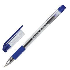 """Ручка шариковая масляная с грипом BRAUBERG """"Max-Oil"""", СИНЯЯ, игольчатый узел 0,7 мм, линия письма 0,35 мм, 141701"""
