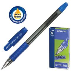 """Ручка шариковая масляная PILOT """"BPS-GP"""", корпус прозрачный, узел 1 мм, линия 0,4 мм, синяя"""