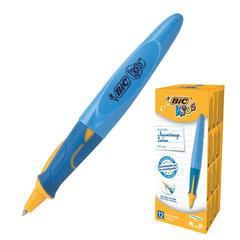 """Ручка шариковая с грипом BIC """"Kids Twist"""", СИНЯЯ, для детей, корпус голубой, узел 1 мм, линия письма 0,32 мм"""