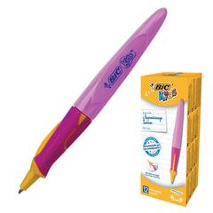 """Ручка шариковая BIC """"Kids Twist"""", для детей, корпус розовый, узел 1 мм, линия 0,32 мм, синяя"""