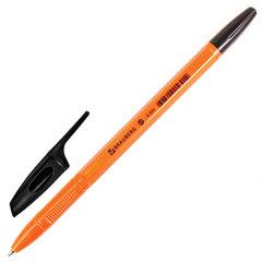 """Ручка шариковая BRAUBERG """"X-333 Orange"""", корпус оранжевый, узел 0,7 мм, линия 0,35 мм, черная"""