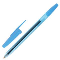"""Ручка шариковая масляная STAFF """"Office"""", корпус тонированный синий, узел 1 мм, линия письма 0,7 мм, синяя, 142962"""