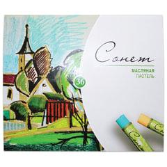 """Пастель масляная художественная """"Сонет"""", 36 цветов, круглое сечение, 7041157"""