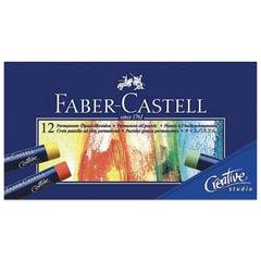 """Пастель масляная художественная FABER-CASTELL """"Oil Pastels"""", 12 цветов, круглое сечение, 127012"""