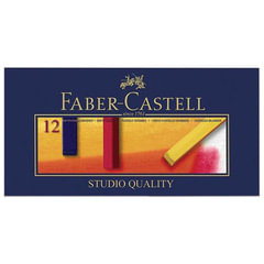 """Пастель сухая художественная FABER-CASTELL """"Soft pastels"""", 12 цветов, квадратное сечение, 128312"""
