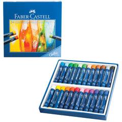 """Пастель масляная художественная FABER-CASTELL """"Oil Pastels"""", 24 цвета, круглое сечение, 127024"""