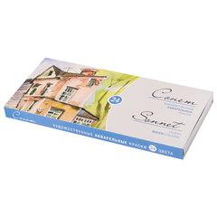 """Краски акварельные художественные """"Сонет"""", 24 цвета, кювета 2,5 мл, картонная коробка, 3541139"""