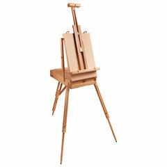 """Этюдник BRAUBERG ART """"CLASSIC"""", бук, 50х34х11 см, высота холста 87 см, ножки деревянные 90 см, ремень, 190654"""