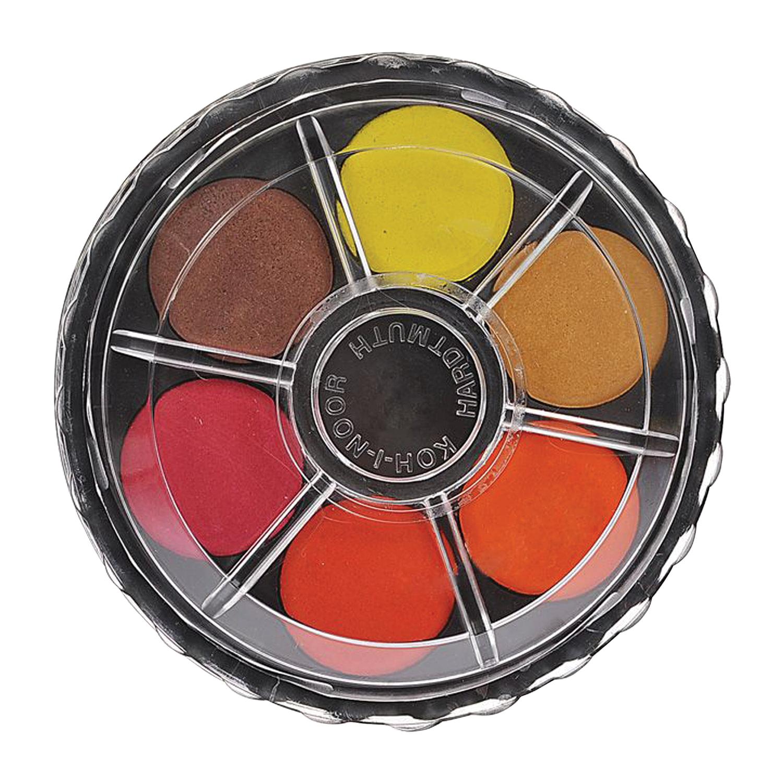 Краски акварельные KOH-I-NOOR, 12 цветов, без кисти, круглая пластиковая коробка