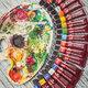 Краски масляные художественные BRAUBERG ART PREMIERE, 18 цв по 12 мл, проф. серия, в тубах, 191456