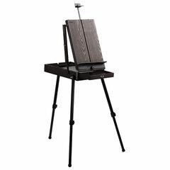 Этюдник-мольберт BRAUBERG ART PREMIERE, алюминиевые ножки, холст до 82 см, кофейный, 191757