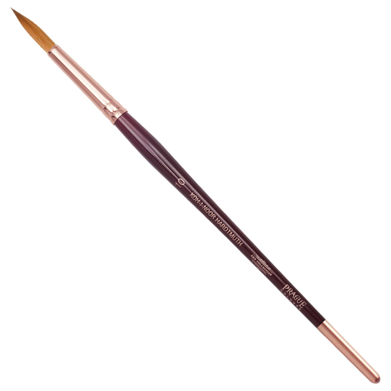 Кисть художественная KOH-I-NOOR колонок, круглая, №10, короткая ручка, блистер, 9935010010BL