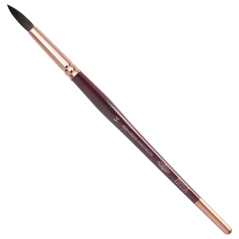 Кисть художественная KOH-I-NOOR белка, круглая, №14, короткая ручка, блистер, 9935014017BL
