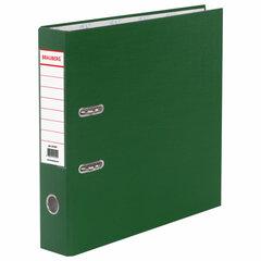 Папка-регистратор BRAUBERG с покрытием из ПВХ, 70 мм, зеленая (удвоенный срок службы), 221818