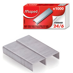 Скобы для степлера MAPED (Франция) № 24/6, 1000 штук, в картонной коробке, до 20 листов