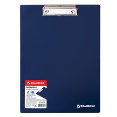 Доска-планшет BRAUBERG Contract сверхпрочная с прижимом А4 (313х225 мм), пластик, 1,5 мм, СИНЯЯ, 223490