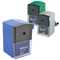 Точилка механическая KW-trio, металлический механизм, пластиковый корпус, ассорти (синяя, зеленая, серая), 305A
