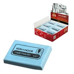 Ластик-клячка KOH-I-NOOR, 47x36x10 мм, голубой, прямоугольный, мягкий, натуральный каучук, 6421018009KD